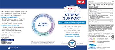 GNC PREVENTIVE NUTRITION® STRESS SUPPORT