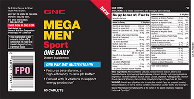 GNC Mega Men® Sport One Daily