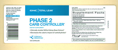 GNC Total Lean™ Phase 2 Carb Controller®