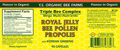 Y.S. ORGANIC BEE FARMS Royal Jelly Bee Pollen Propolis