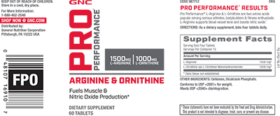 GNC Pro Performance® Arginine and Ornithine