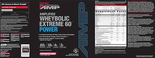 GNC Pro Performance® AMP Amplified Wheybolic Extreme 60™ Power