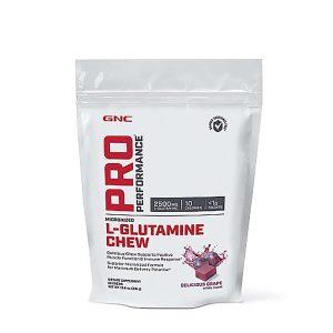 GNC Pro Performance L-Glutamine Chew - Delicious Grape