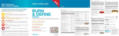 GNC Total Lean® Burn and Define Vitapak® Program