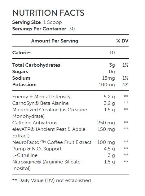 مکمل NUTRITION FACTS - LIT